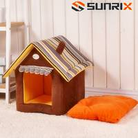 Portable Dog Hut Luxury Pet Dog House Cozy Warm Great Indoor-Outdoor Pet Bed House for Dogs, Cats and Puppies