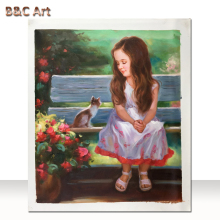 Custom Portrait Beautiful Girl Oil Painting Famous Paintings of Children