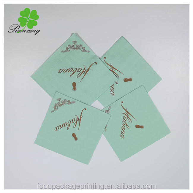 OEM custom recycled printed paper napkin paper tissue
