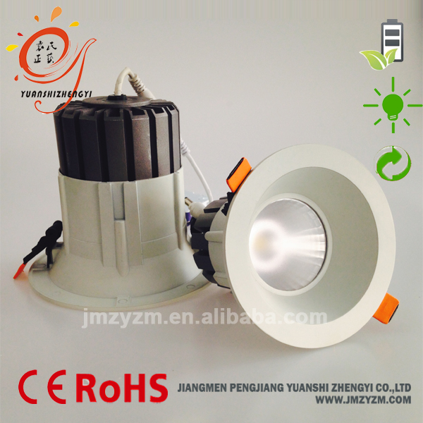 New Design Ceiling 30w led recessed COB downlight white aluminum with 80mm cutout