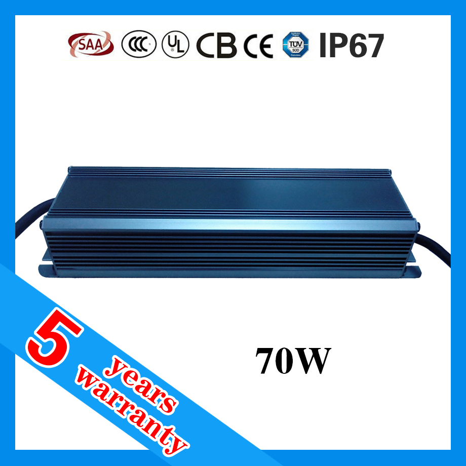 5 years warranty waterproof IP67 70W 0.7A constant current LED driver 700mA 100V