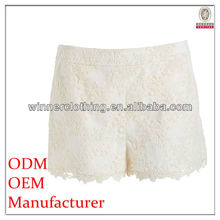 Fashion cutting lace pictures of women in short shorts