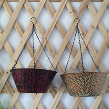 Antique decorative wall hanging galvanized basket