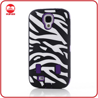 2013 New Customized Rugged Rubber Hard Hybrid Zebra Case for Galaxy S4 i9500 S IV