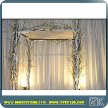 used pipe and drape curtain fabric/ceiling drapery for wedding backdrop stand
