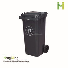 240 Liter Color coded plastic garbage bin with wheels