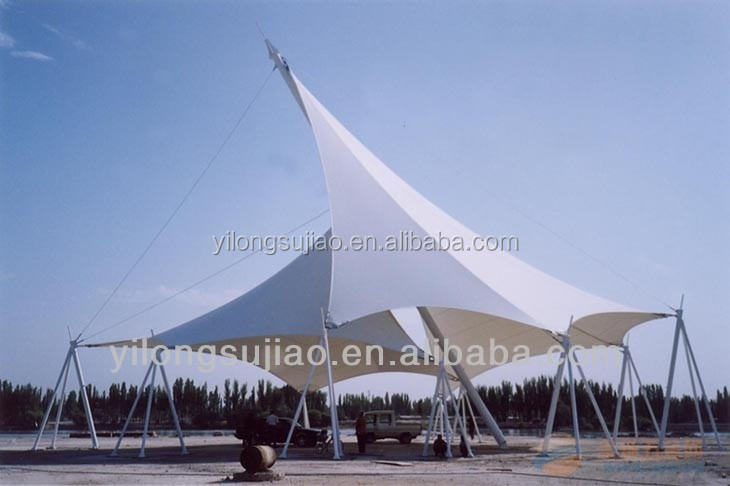 Acrylic lacquering PVC Tarpaulin for membrane construction