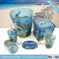 EA0012 hotel amenities set / cute bathroom decorations with fish design sea shell from China