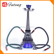 China hookah supplier Middle size Zinc alloy Eiffel tower hookah