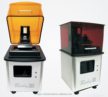 Ruby industrial DLP 3D printer designed for jewelry casting directly 100 percent burned resin wax