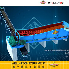 Ore Dressing Mineral Processing Double Spiral Log Sand Washer 100TPH