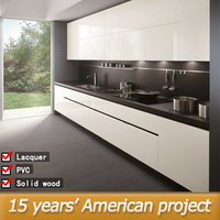 Factory high gloss white pvc kitchen cabinets