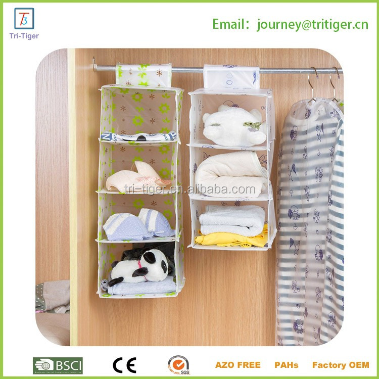 3 Layer clear plastic pocket hanging organizer