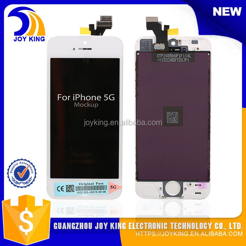 Wholesale front assembly lcd display + touch screen digitizer for iPhone 5 5G Black