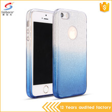 Popular item 3 in 1 gradient color tpu for i phone5 cases and covers