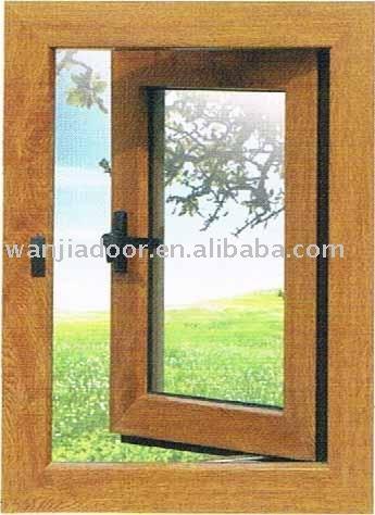 Pvc color madera ventana ventanas identificaci n del for Ventanas pvc color madera