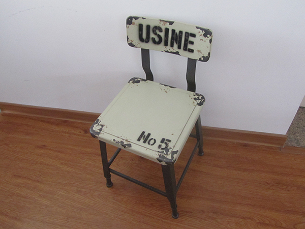Vintage metal frame leg chair for dining room