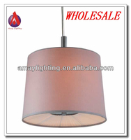pink fabric shade pendant ceiling light in drum shapes