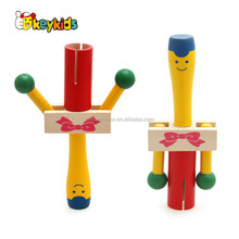 Wholesale cute cartoon style musical wooden rattle toy for babys W07I132