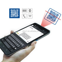 Rugged IP54 Android 2D barcode scanner tablet PC with NFC reader/writer,7200mAh battery,Free SDK