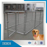 Yard Application Large Galvanized Steel Structure Wire Mesh Dog Cage
