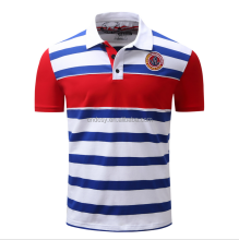 Newest popular men short sleeve striped polo shirt