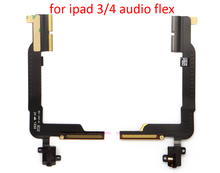 alibaba wholesaler mobile phone accessories for ipad 3/4 audio flex headset cable headphone jack flex wifi version repair parts