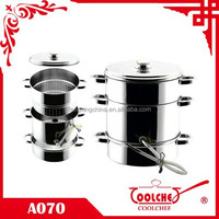 Stainless Steel Fruit Juicer Pot and Steamer Pot