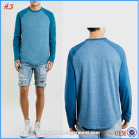 Chinese clothing supplier high quality OEM&ODM men's t shirt with raglan long sleeve