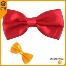 custom 2015 hot sale good quality men polyester satin ribbon bow tie