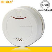 2015 new products EN14604/VD/ NF Approved 10 Years 3V Sealed Lithium Battery Operated Optical smoke detector alarm