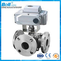 BELL Brand,4 inch pvc 3 way ball valve with electric control