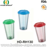 Beautiful 16Oz Clear Plastic Tumbler with Foldable Straw