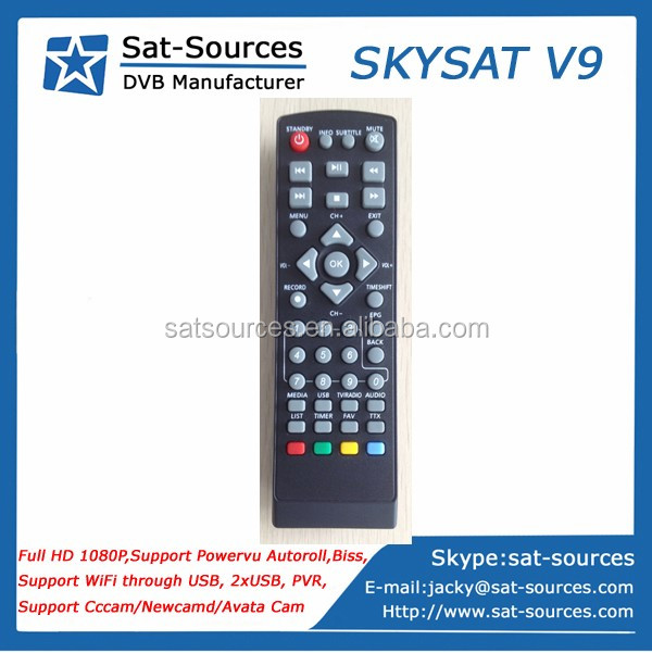 Top Selling Mini HD Receiver with Powervu Biss key Support CCCam Newcamd SKYSAT V9