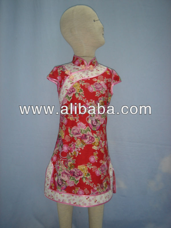 Chinese style girl's dress D1126C