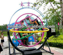 professional amusement park ride human gyroscope space shuttle ride
