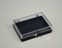 mini hinged lid plastic box with customs inserts for holding accessoires packaging
