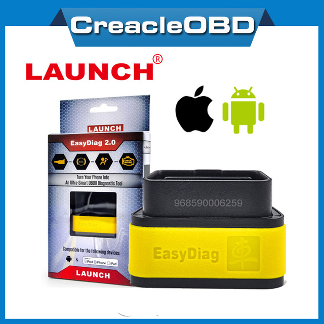 Top Rated Best Original Launch X431 EasyDiag Plus 2.0 OBDII Code Reader for Android ios easy diag with 2 Free Vehicle Software