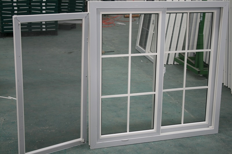 cheap price plastic pvc 80 series glass sliding window with mosquito screen