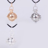 2015 Fashion Europe and America Openable Alloy Hollow Ball Necklace Pendant Pregnant Women Prenatal education Necklace Charms