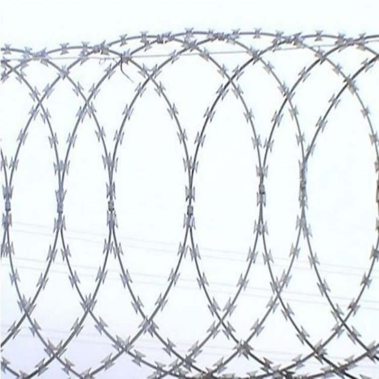 Turkish blade flat razor wire fence protection