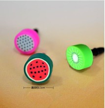 hot Sale Lovely Earphone Limited Dust Plug Dachshund 2017 New Cute fruit Dustproof Plug Caps Cell Phone Accessories