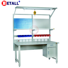 Detall. ESD lab work bench with perforated panel
