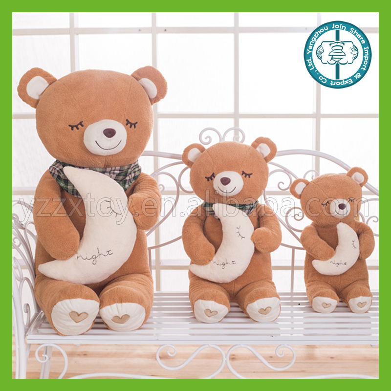 Best made kawaii sleeping stuffy plush wholesale teddy bear toys for kids