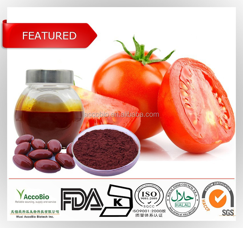 Supplier of 100% Natural tomato extract lycopene 6%,5%,1% for Food and Beverage, natural color