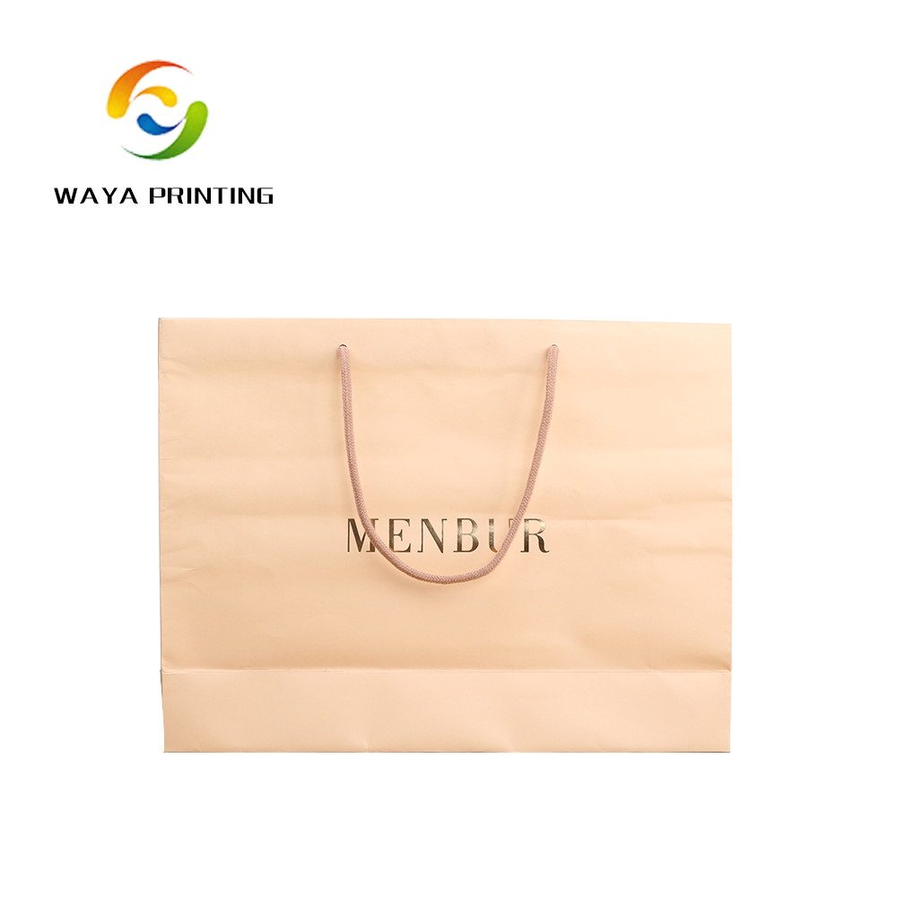 Simple design Cotton Rope handle paper Shopping bag with logo print