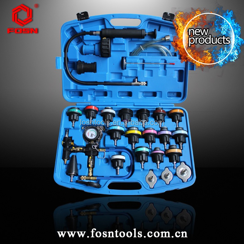 Cooling System Leakage Tester And Vacuum-Type Coolant Refilling Kit For Radiator