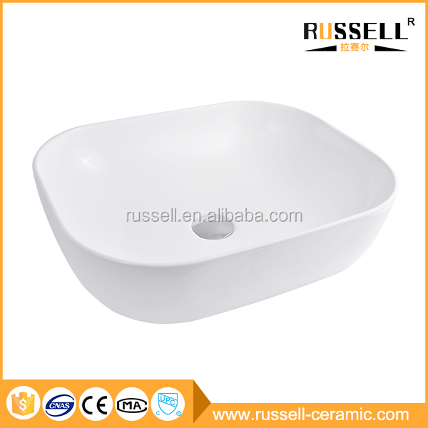 New design ceramic hotel ovel shape bathroom wash basins