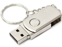 Swivel Metal USB Flash Drive with Custom Logo