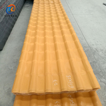 Ultra-weathering asa corrugated waterproof synthetic resin roof tiles / long life plastic pvc roof shingles